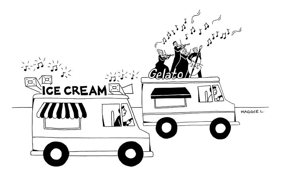Ice Cream Gelato Drawing by Maggie Larson