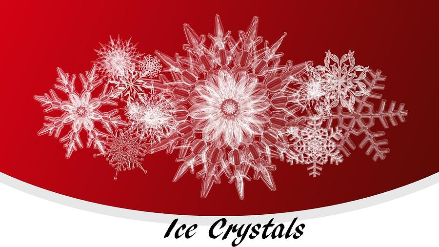Ice Mixed Media - Ice Crystals Red by Nancy Ayanna Wyatt