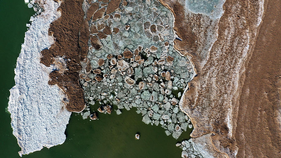 Ice Melting On A Lake In Spring Photograph