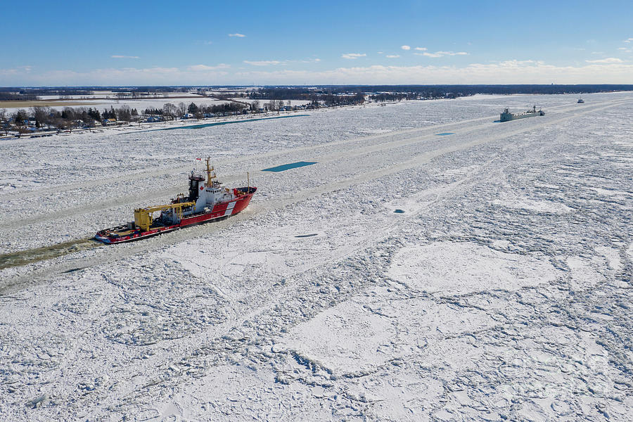 Icebreaker On St. Clair River Photograph