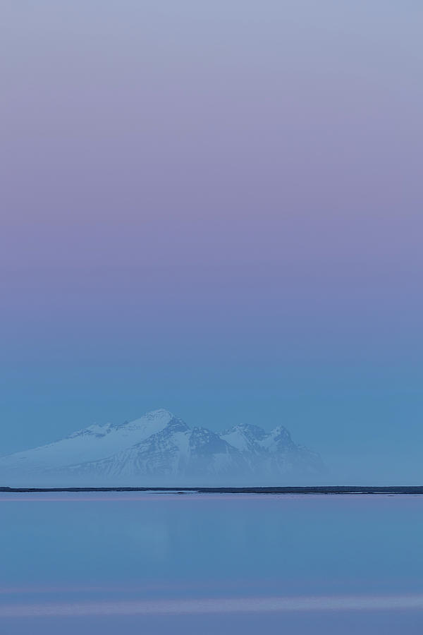 Iceland Blue Hour Photograph