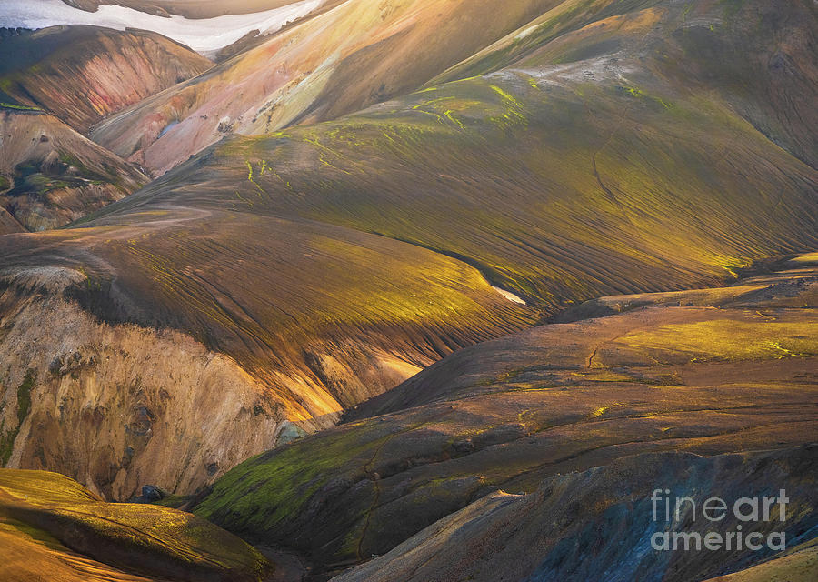 Icelandic Highlands Contours Photograph