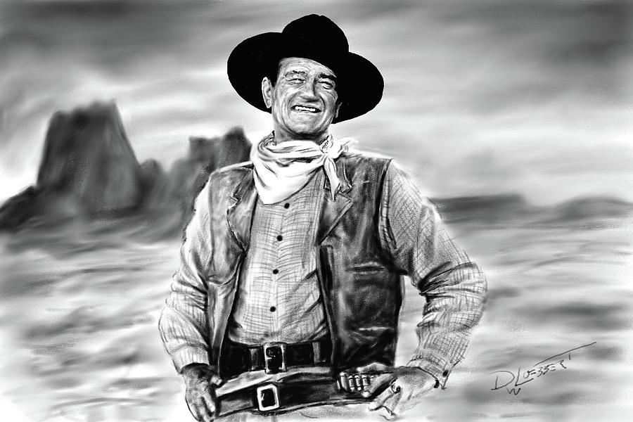 Iconic American Cowboy by David Luebbert