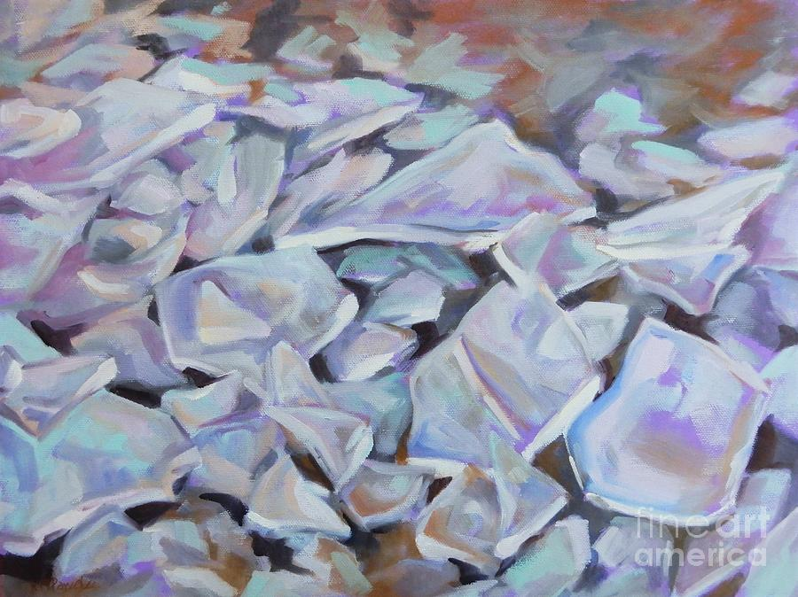 Icy Shards Painting