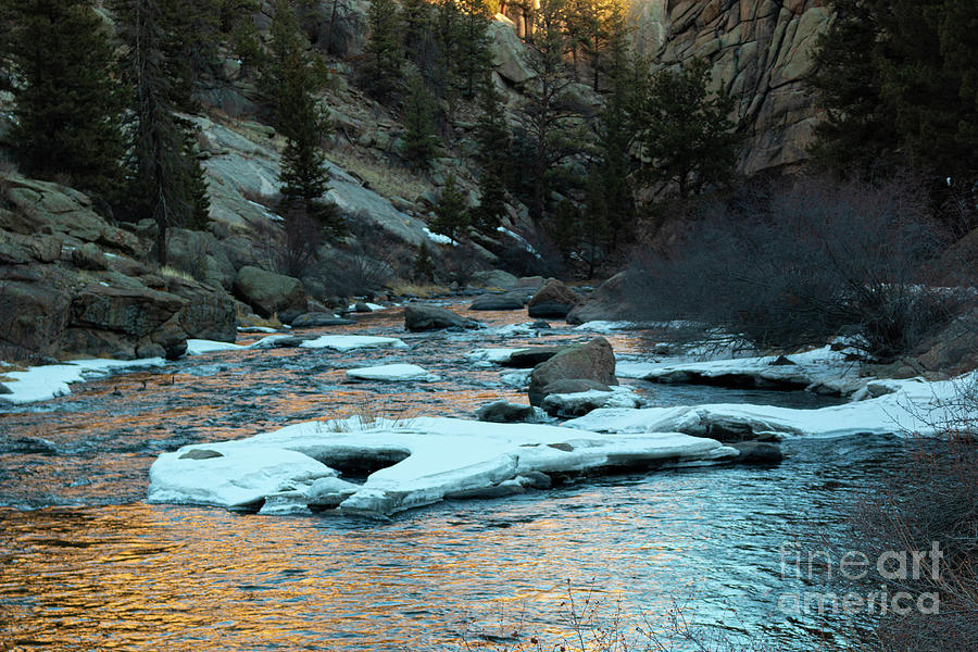 Icy South Platte River Reflections Photograph