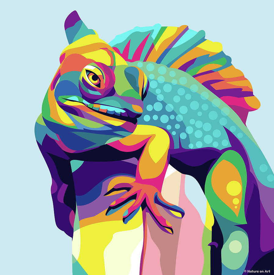 Iguana Digital Art