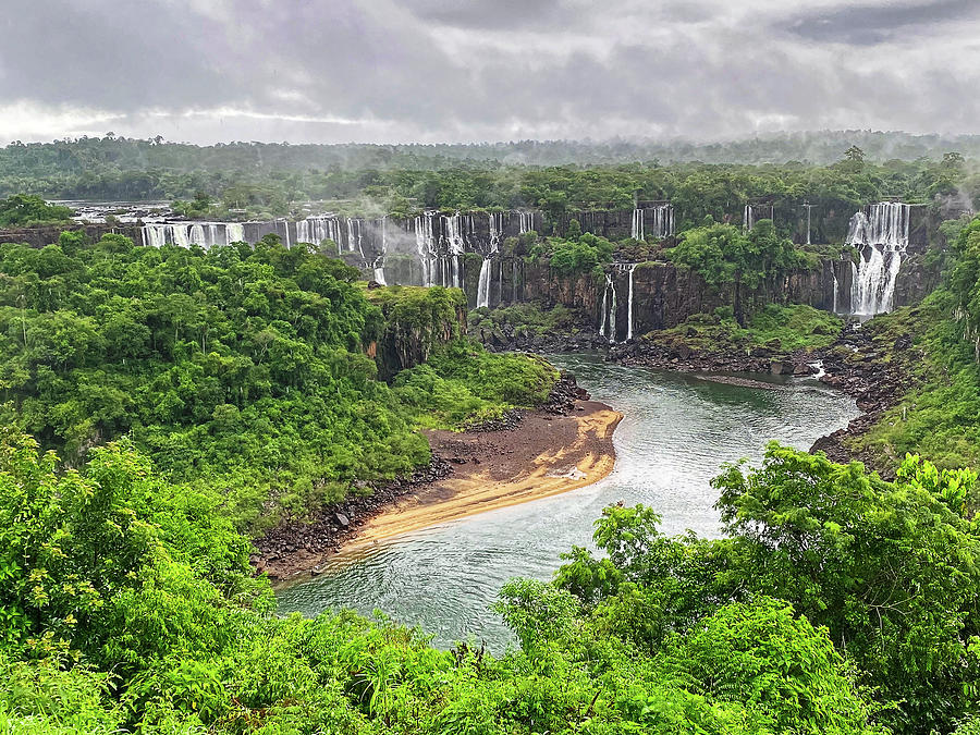 Overview Photograph - Iguassu Falls Overview by Sally Weigand