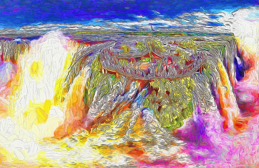 Iguazu Waterfall Painting