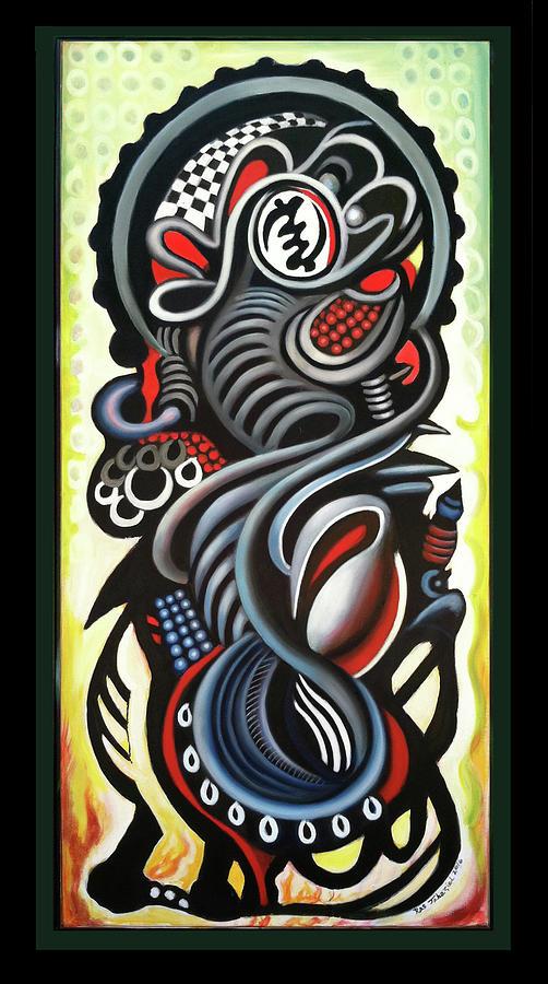 Iletation 2 Painting by Ras Tafari