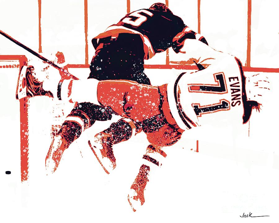 Nhl Painting - Illegal Hockey Hit by Jack Bunds