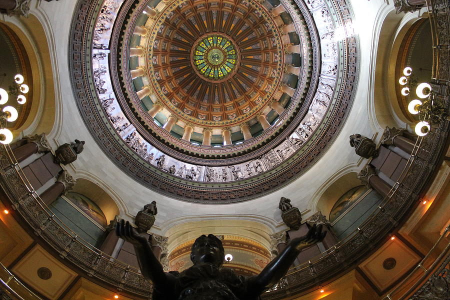 Illinois State Capitol Photograph - Illinois Capitol Dome by Callen Harty