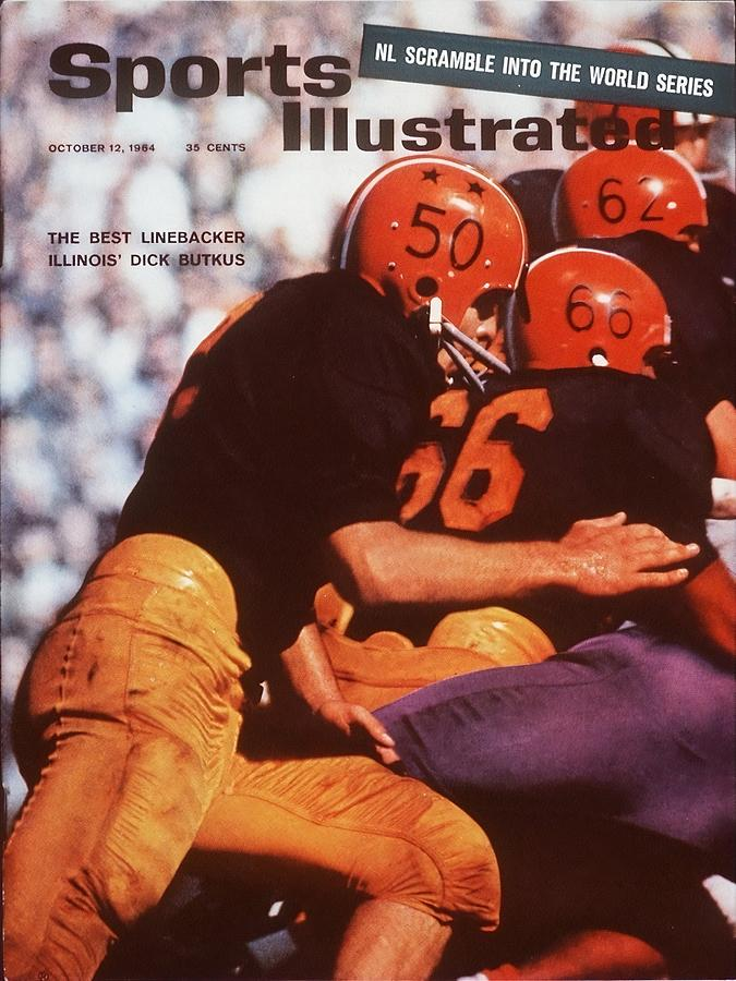 Illinois Dick Butkus... Sports Illustrated Cover Photograph by Sports Illustrated