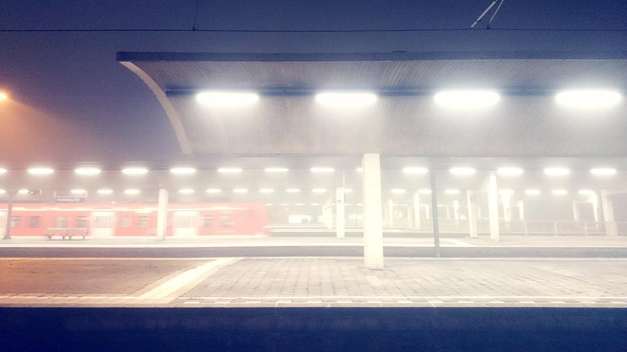 Illuminated Railway Station At Night Photograph by Roman Pretot / EyeEm