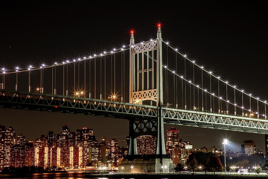 Illuminated Triboro Bridge by Cate Franklyn