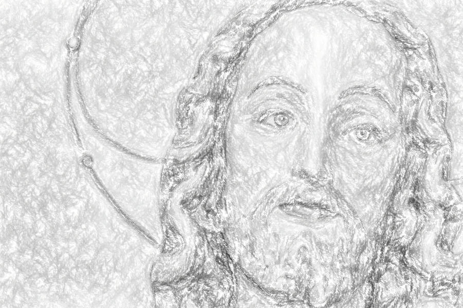 Christ Photograph - Illustration Jesus by Gone With The Wind