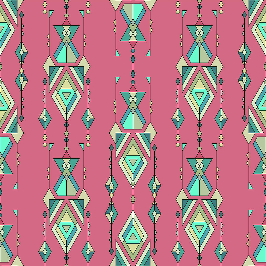 illustration Tribal vintage ethnic seamless pattern. Aztec, mexican, navajo, african motif Drawing