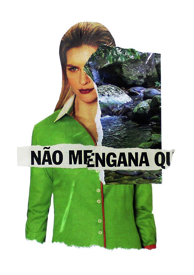 Collage Mixed Media - Im always mad by Tchago Martins
