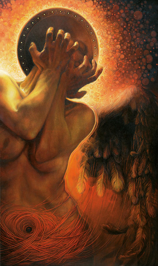 Angel Painting - Im in the shadow of you by Graszka Paulska