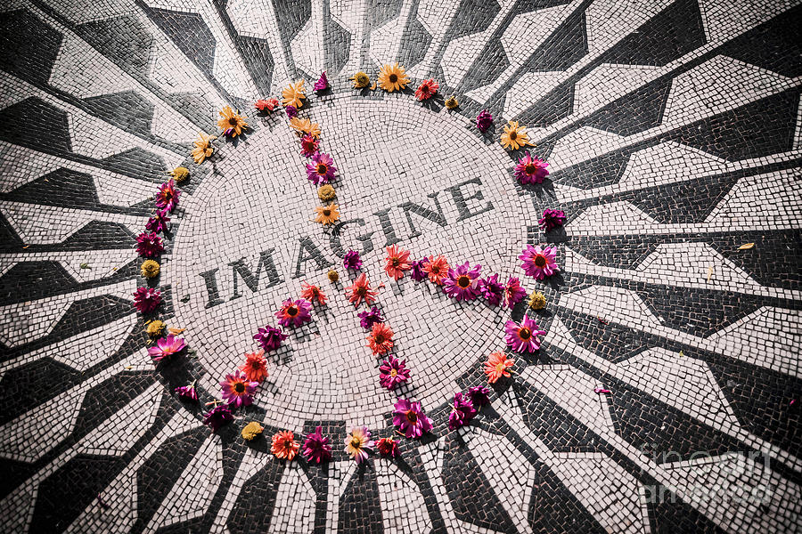 John Lennon Photograph - Imagine Peace by Stacey Granger