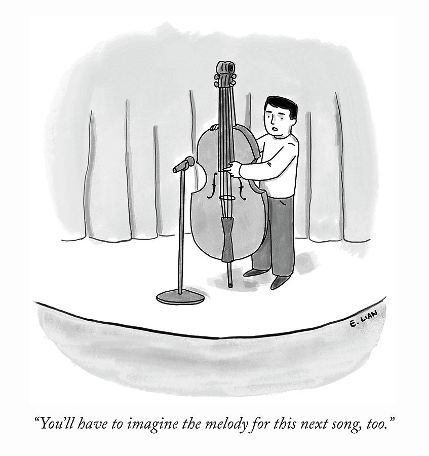 Imagine The Melody Drawing by Evan Lian