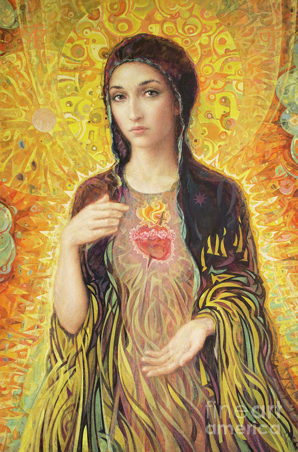 Immaculate Heart Of Mary Painting - Immaculate Heart of Mary olmc by Smith Catholic Art