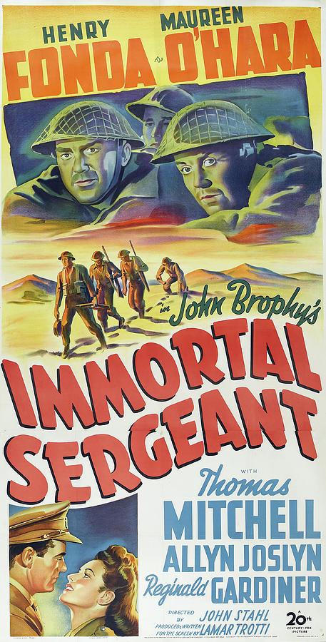 immortal Sergeant, With Henry Fonda And Maureen Ohara, 1943 Mixed Media
