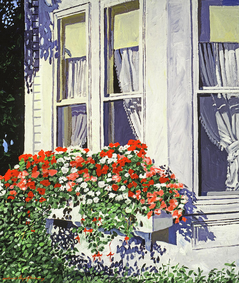 Impatiens In The Windows Painting