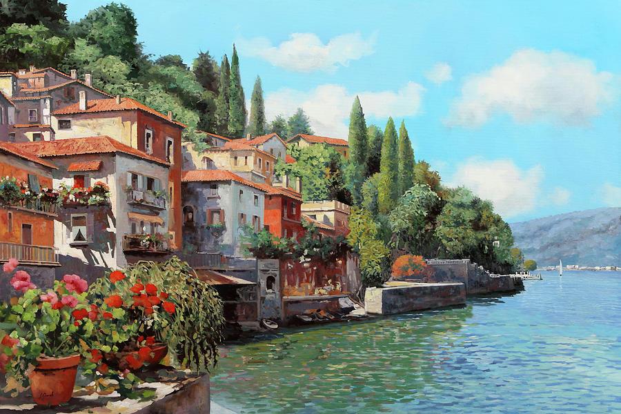 Lake Como Painting - Impressioni Del Lago by Guido Borelli