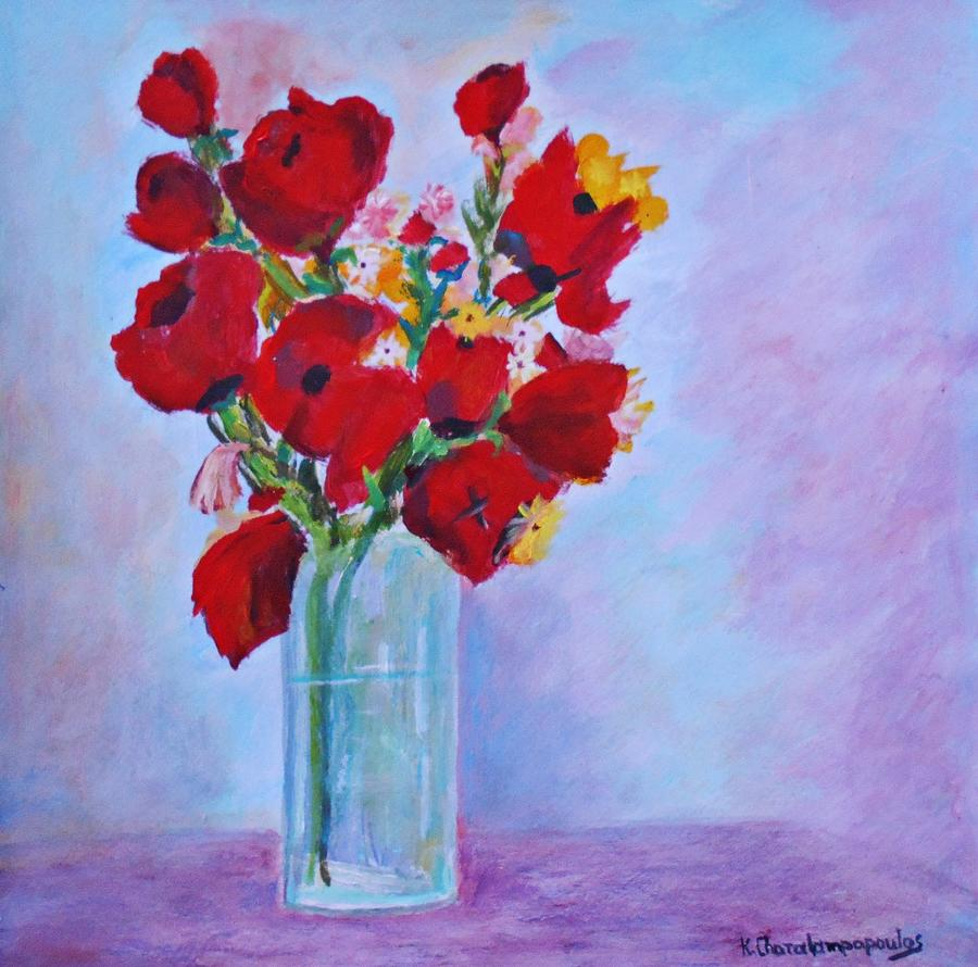 Impressionism Poppies Painting