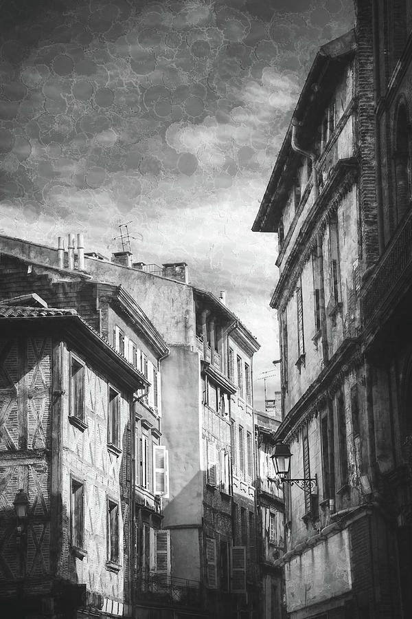 Impressions Of Toulouse France Black And White Photograph