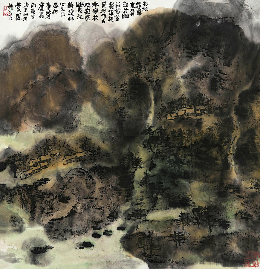 Lai Painting - In       It Was The Spring Of Autumn Valley   by Lai Shaoji