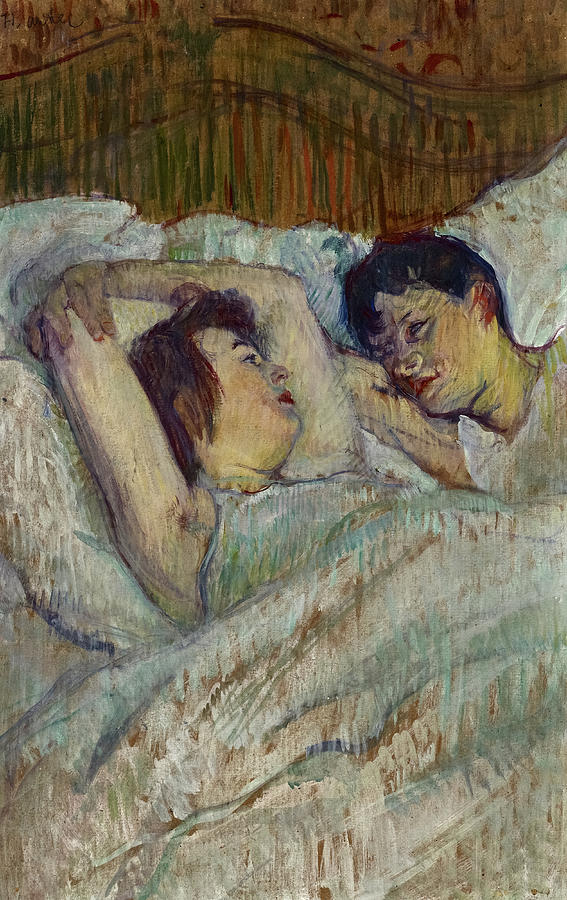 In Bed 1892 Painting By Henri De Toulouse Lautrec