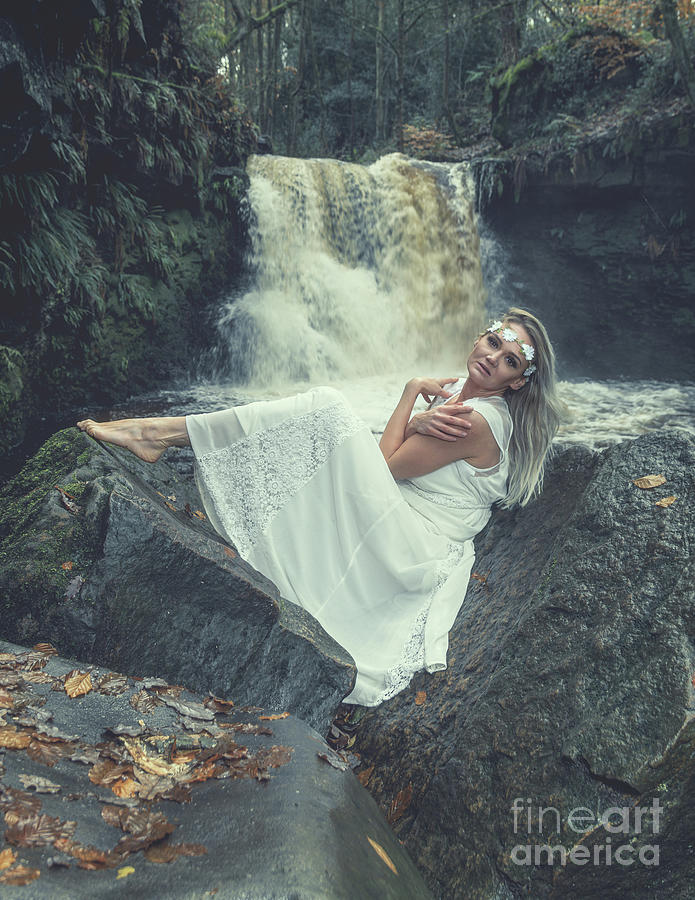 In Front Of A Waterfall Photograph