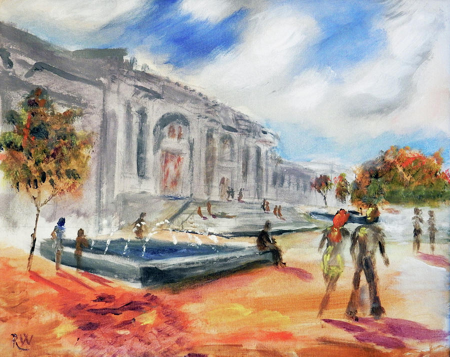 New York City Painting - In Front of the Met by Rich Wagner