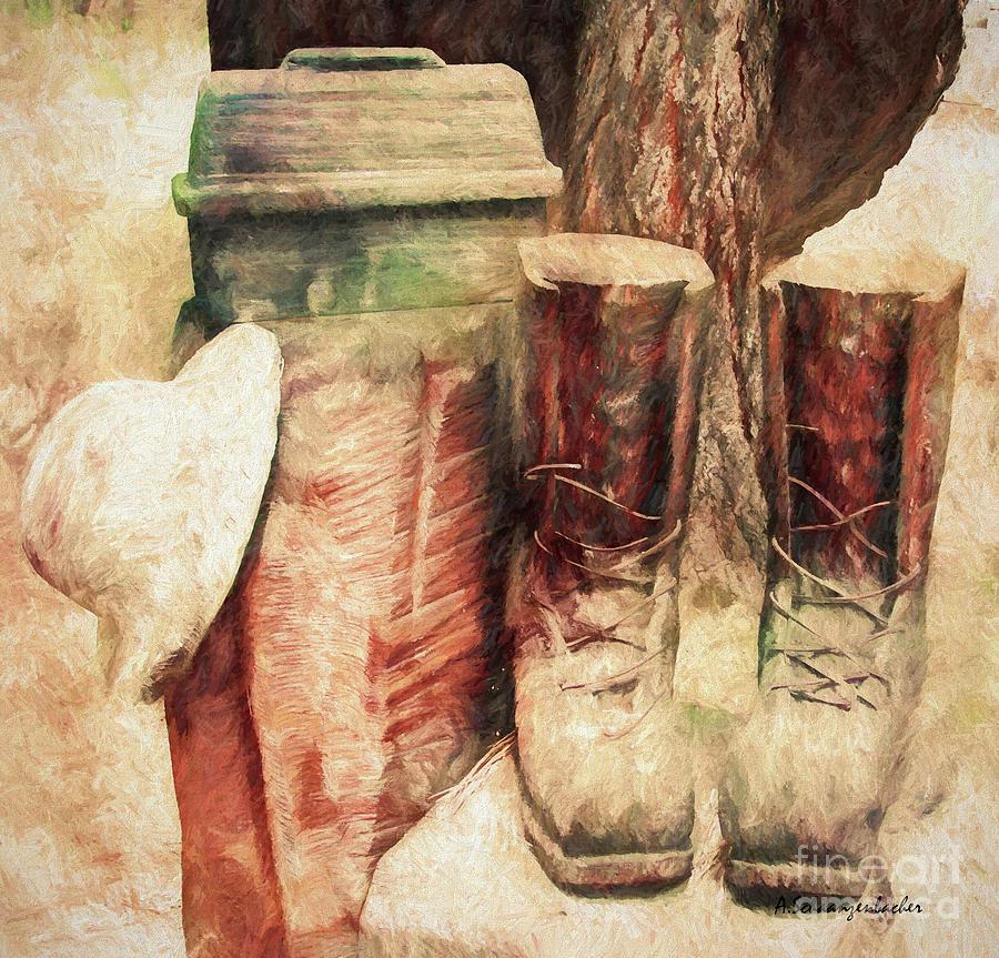 In Memory Of A Lumberjack Digital Art