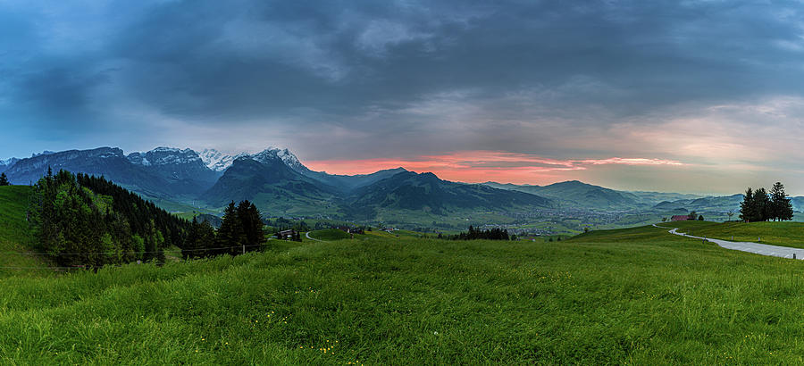 in the evening in Appenzellerland, Switzerland by Andreas Levi