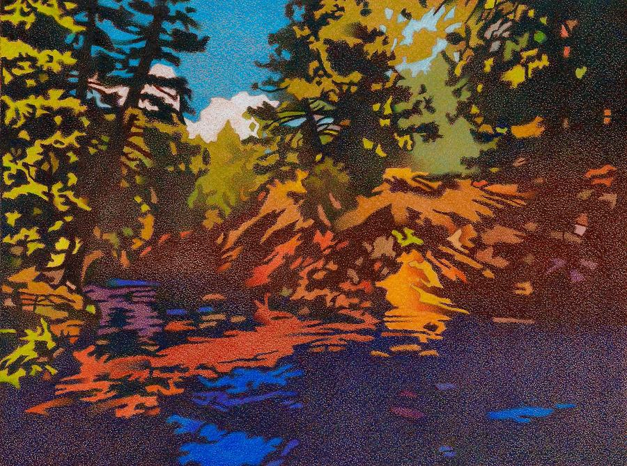 Drawing Drawing - In The Forest, Bear Creek by Dan Miller