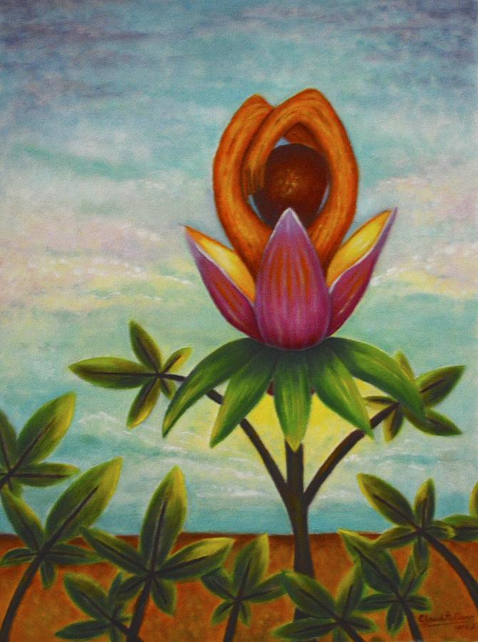 Flower Painting - In the Garden II by Claudette Dean