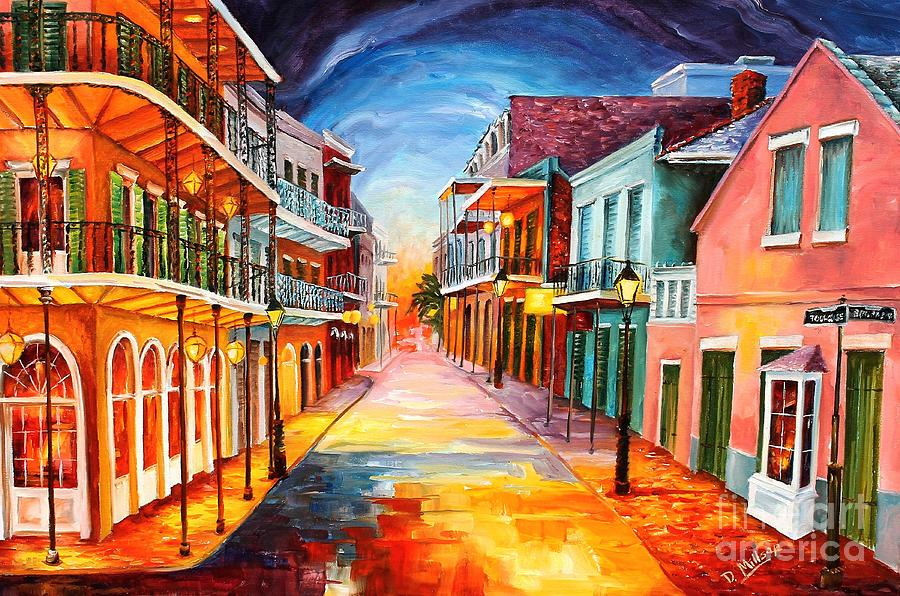 New Orleans Painting - In the Heart of the French Quarter by Diane Millsap