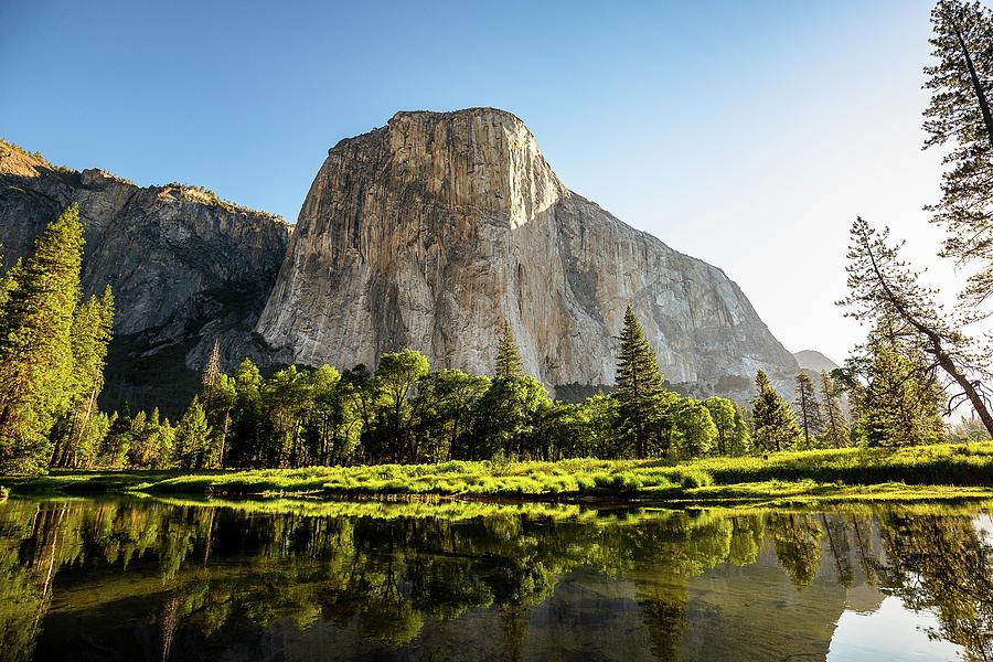 In The Presence Of El Capitan - Morning In Yosemite Photograph