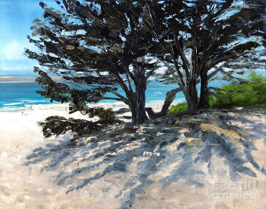 In The Shade Of The Tree At Carmel By The Sea Painting