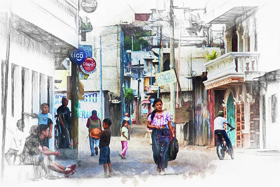 Atitlan Photograph - In The Streets Of Santiago Guatemala by Tatiana Travelways