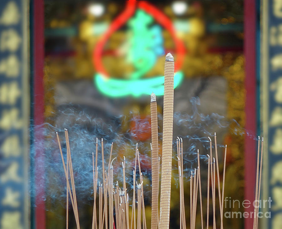 Incense Sticks at a Chinese Temple by Yali Shi