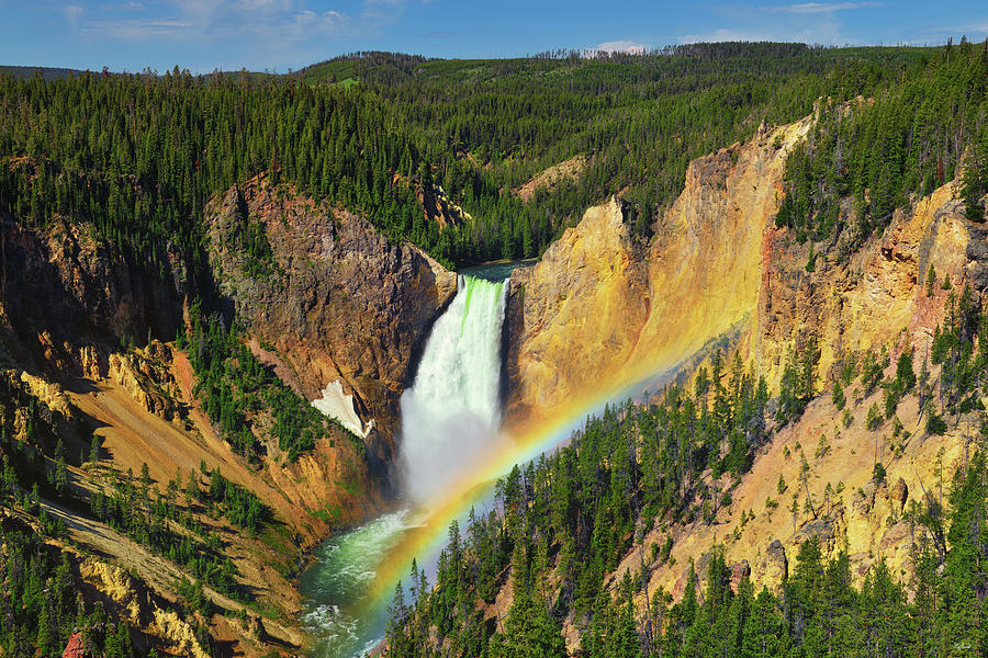 Independence Day At Yellowstone Lower Falls Photograph