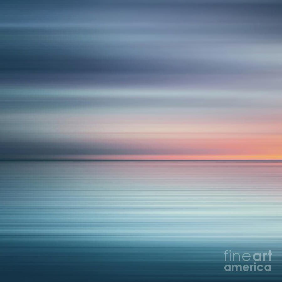 India Photograph - India Colors - Abstract Wide Oceanscape - Triptych left - 1 of 3 by Stefano Senise