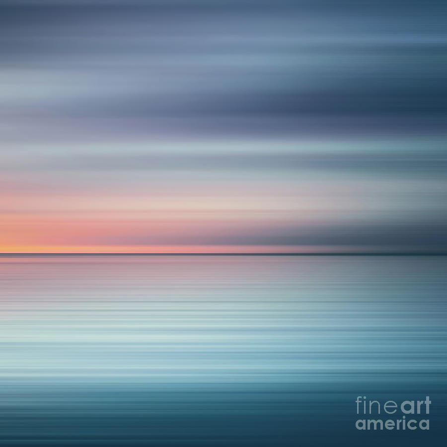 India Photograph - India Colors - Abstract Wide Oceanscape - Triptych right - 3 of 3 by Stefano Senise