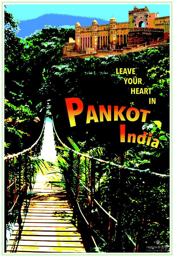India Digital Art - India, Pankot Palace by Jason Neptune