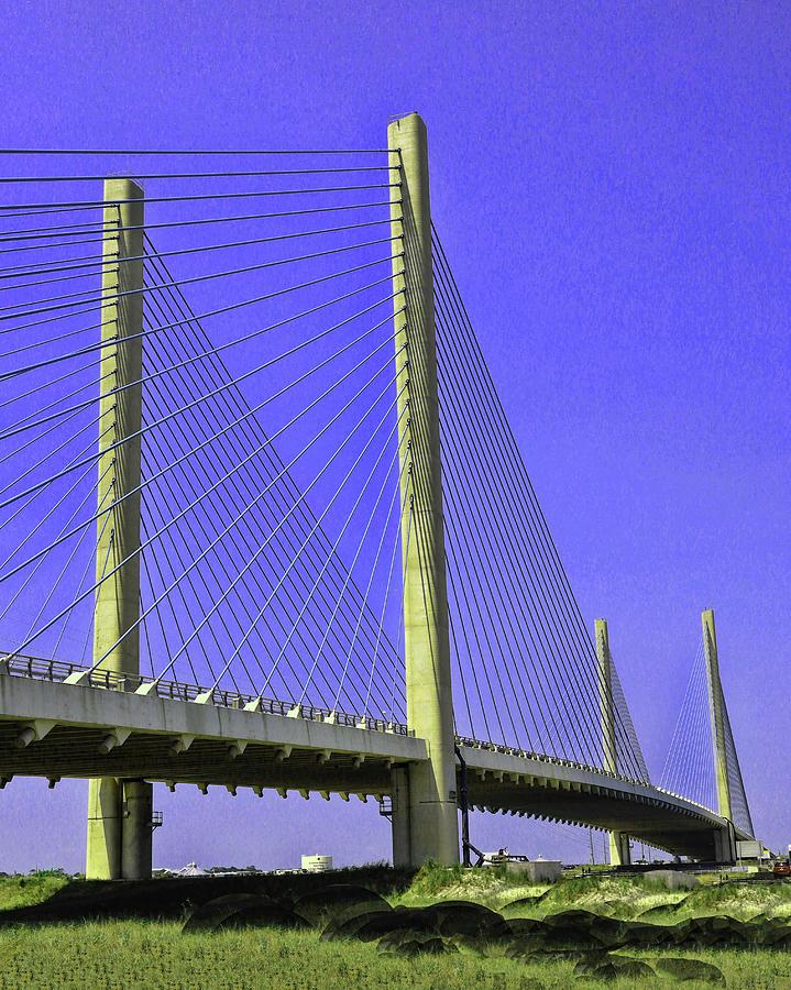 Water Photograph - Indian River Inlet Bridge by Allen Beatty