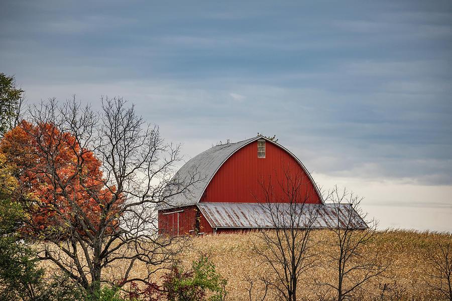 Landscape Photograph - Indiana Barn #119 by Scott Smith