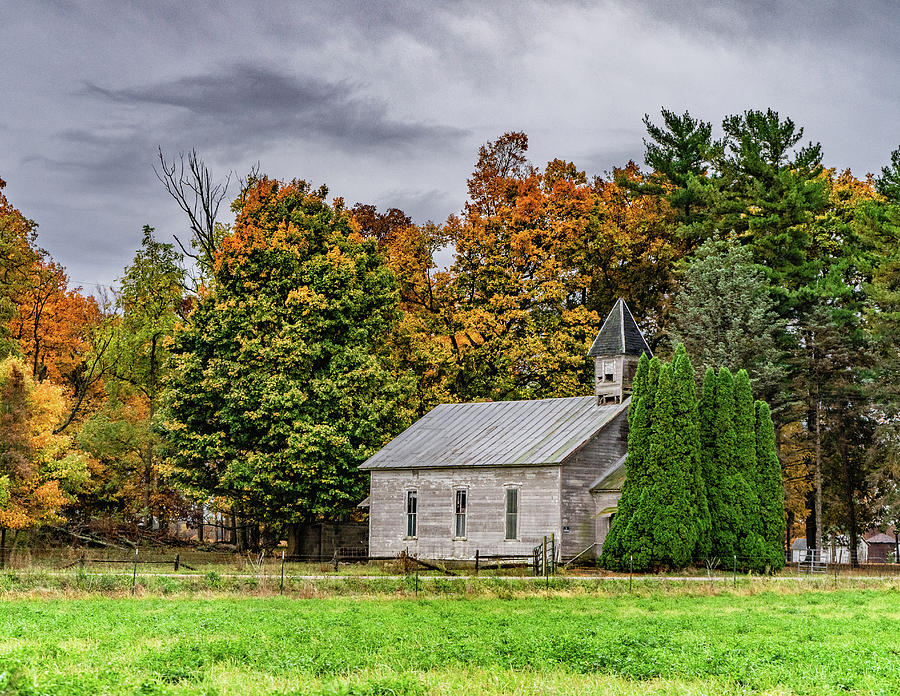 Landscape Photograph - Indiana Country Church by Scott Smith